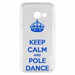 Чехол для Samsung A3 2017 KEEP CALM and pole dance