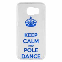 Чехол для Samsung S6 KEEP CALM and pole dance