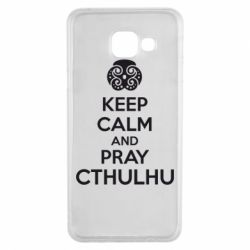 Чехол для Samsung A3 2016 KEEP CALM AND PRAY CTHULHU - FatLine
