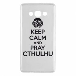 Чехол для Samsung A7 2015 KEEP CALM AND PRAY CTHULHU - FatLine