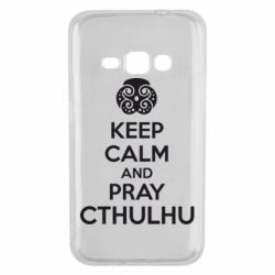 Чехол для Samsung J1 2016 KEEP CALM AND PRAY CTHULHU - FatLine