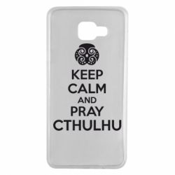 Чехол для Samsung A7 2016 KEEP CALM AND PRAY CTHULHU - FatLine