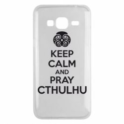 Чехол для Samsung J3 2016 KEEP CALM AND PRAY CTHULHU - FatLine