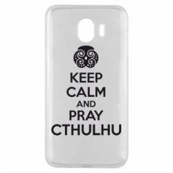 Чехол для Samsung J4 KEEP CALM AND PRAY CTHULHU - FatLine
