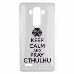 Чехол для LG G4 KEEP CALM AND PRAY CTHULHU - FatLine