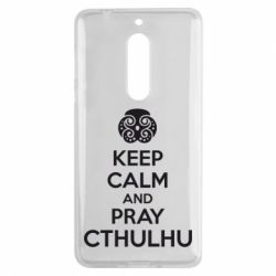 Чехол для Nokia 5 KEEP CALM AND PRAY CTHULHU - FatLine