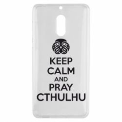 Чехол для Nokia 6 KEEP CALM AND PRAY CTHULHU - FatLine