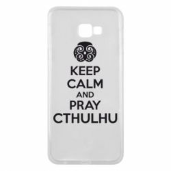 Чехол для Samsung J4 Plus 2018 KEEP CALM AND PRAY CTHULHU - FatLine