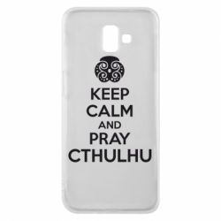 Чехол для Samsung J6 Plus 2018 KEEP CALM AND PRAY CTHULHU - FatLine