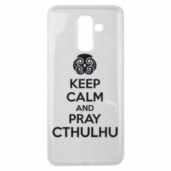 Чехол для Samsung J8 2018 KEEP CALM AND PRAY CTHULHU - FatLine