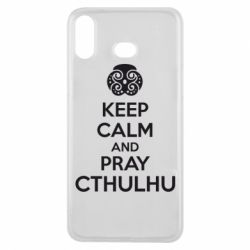 Чехол для Samsung A6s KEEP CALM AND PRAY CTHULHU - FatLine