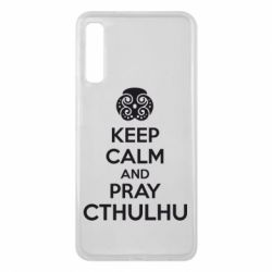 Чехол для Samsung A7 2018 KEEP CALM AND PRAY CTHULHU - FatLine