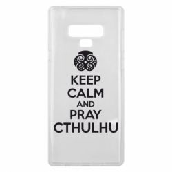 Чехол для Samsung Note 9 KEEP CALM AND PRAY CTHULHU - FatLine