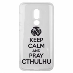 Чехол для Meizu V8 KEEP CALM AND PRAY CTHULHU - FatLine