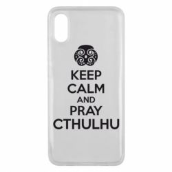 Чехол для Xiaomi Mi8 Pro KEEP CALM AND PRAY CTHULHU - FatLine