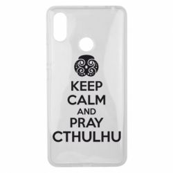 Чехол для Xiaomi Mi Max 3 KEEP CALM AND PRAY CTHULHU - FatLine
