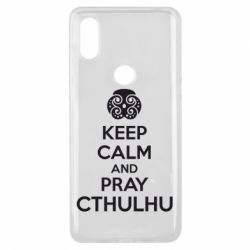 Чехол для Xiaomi Mi Mix 3 KEEP CALM AND PRAY CTHULHU - FatLine