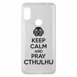 Чехол для Xiaomi Redmi Note 6 Pro KEEP CALM AND PRAY CTHULHU - FatLine
