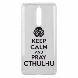 Чехол для Nokia 8 KEEP CALM AND PRAY CTHULHU - FatLine