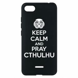 Чехол для Xiaomi Redmi 6A KEEP CALM AND PRAY CTHULHU - FatLine
