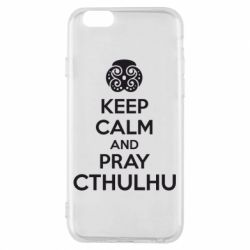 Чехол для iPhone 6/6S KEEP CALM AND PRAY CTHULHU - FatLine