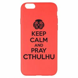 Чехол для iPhone 6 Plus/6S Plus KEEP CALM AND PRAY CTHULHU - FatLine