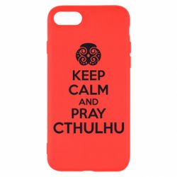 Чехол для iPhone 7 KEEP CALM AND PRAY CTHULHU - FatLine