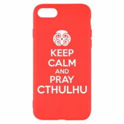 Чехол для iPhone 8 KEEP CALM AND PRAY CTHULHU - FatLine