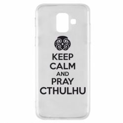 Чехол для Samsung A6 2018 KEEP CALM AND PRAY CTHULHU - FatLine