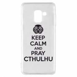 Чехол для Samsung A8 2018 KEEP CALM AND PRAY CTHULHU - FatLine