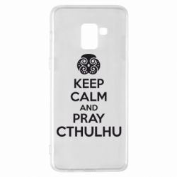 Чехол для Samsung A8+ 2018 KEEP CALM AND PRAY CTHULHU - FatLine
