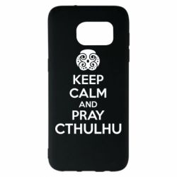 Чехол для Samsung S7 EDGE KEEP CALM AND PRAY CTHULHU - FatLine