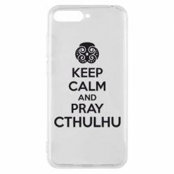 Чехол для Huawei Y6 2018 KEEP CALM AND PRAY CTHULHU - FatLine