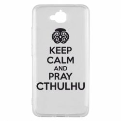 Чехол для Huawei Y6 Pro KEEP CALM AND PRAY CTHULHU - FatLine