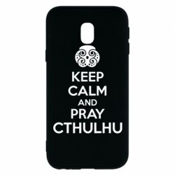 Чехол для Samsung J3 2017 KEEP CALM AND PRAY CTHULHU - FatLine