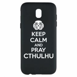 Чехол для Samsung J5 2017 KEEP CALM AND PRAY CTHULHU - FatLine