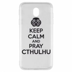 Чехол для Samsung J7 2017 KEEP CALM AND PRAY CTHULHU - FatLine