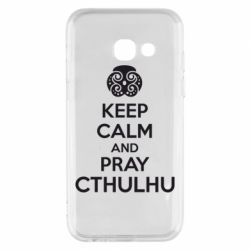Чехол для Samsung A3 2017 KEEP CALM AND PRAY CTHULHU - FatLine