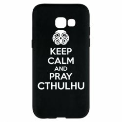 Чехол для Samsung A5 2017 KEEP CALM AND PRAY CTHULHU - FatLine