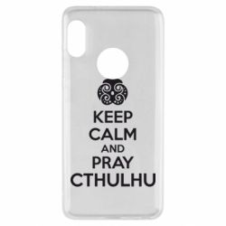 Чехол для Xiaomi Redmi Note 5 KEEP CALM AND PRAY CTHULHU - FatLine