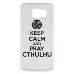 Чехол для Samsung S6 KEEP CALM AND PRAY CTHULHU - FatLine