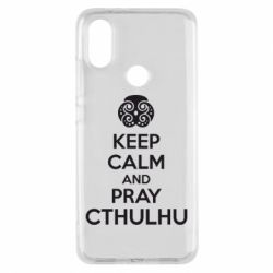 Чехол для Xiaomi Mi A2 KEEP CALM AND PRAY CTHULHU - FatLine