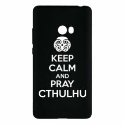 Чехол для Xiaomi Mi Note 2 KEEP CALM AND PRAY CTHULHU - FatLine