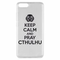 Чехол для Xiaomi Mi Note 3 KEEP CALM AND PRAY CTHULHU - FatLine