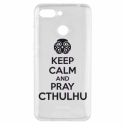 Чехол для Xiaomi Redmi 6 KEEP CALM AND PRAY CTHULHU - FatLine