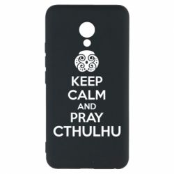 Чехол для Meizu M5 KEEP CALM AND PRAY CTHULHU - FatLine