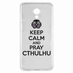 Чехол для Meizu M6s KEEP CALM AND PRAY CTHULHU - FatLine