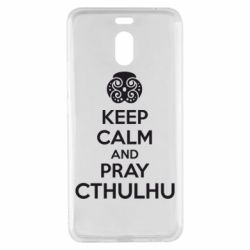 Чехол для Meizu M6 Note KEEP CALM AND PRAY CTHULHU - FatLine