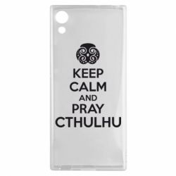 Чехол для Sony Xperia XA1 KEEP CALM AND PRAY CTHULHU - FatLine