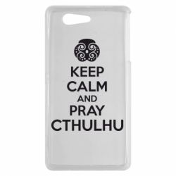 Чехол для Sony Xperia Z3 mini KEEP CALM AND PRAY CTHULHU - FatLine